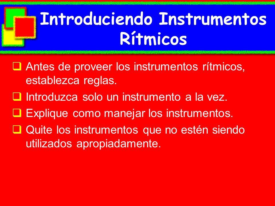 Introduciendo Instrumentos Rítmicos