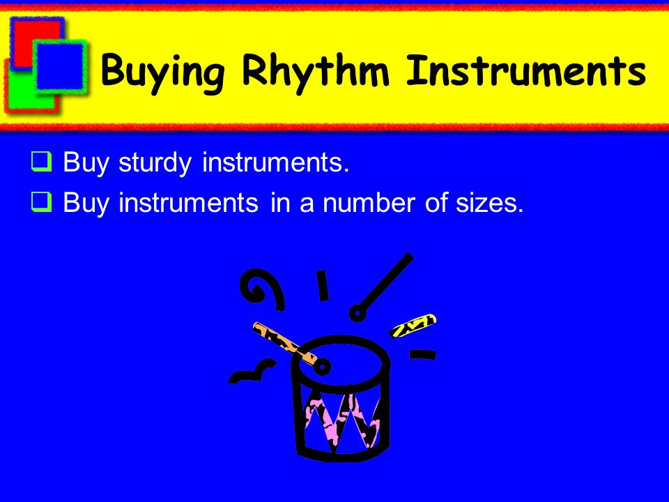 Buying Rhythm Instruments