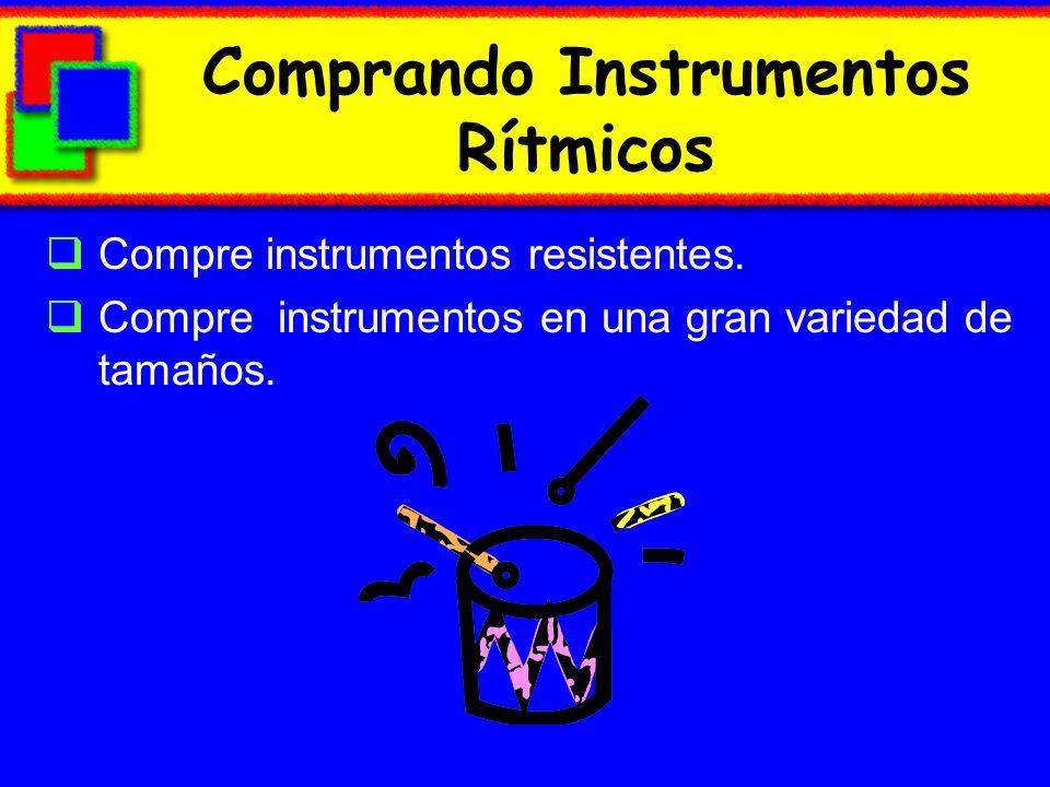 Comprando Instrumentos Rítmicos