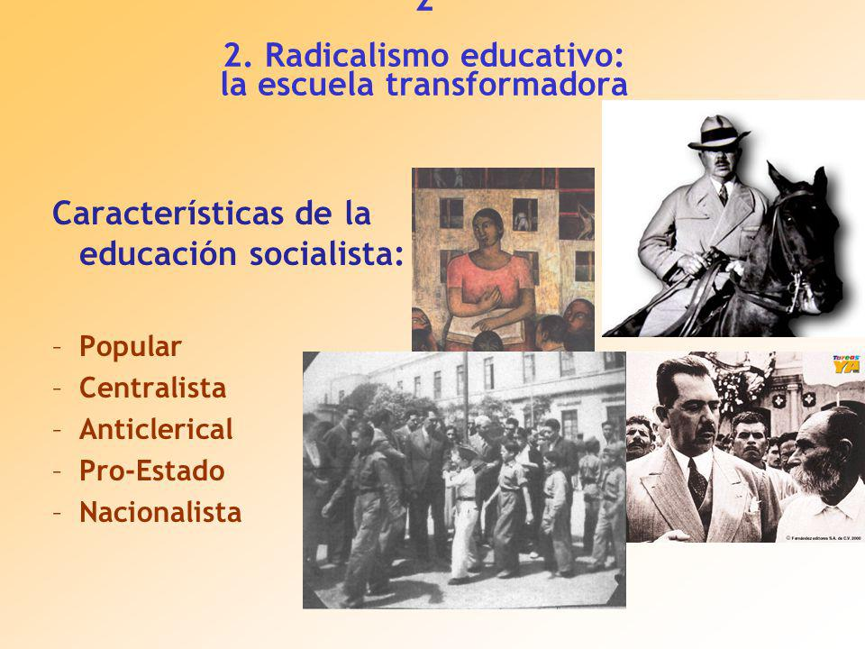 2 2. Radicalismo educativo: la escuela transformadora