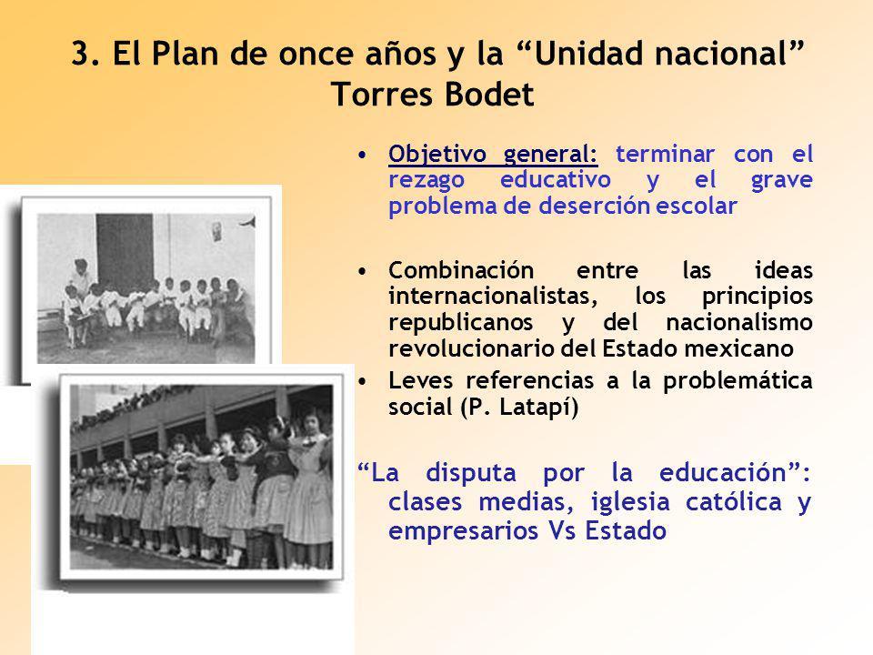 3. El Plan de once años y la Unidad nacional Torres Bodet