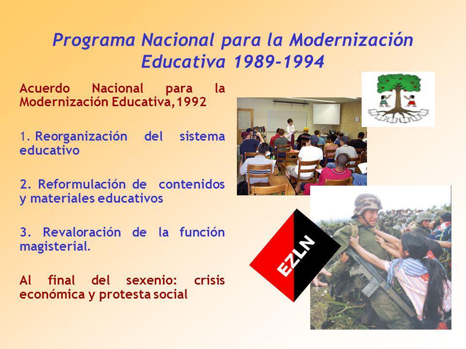Programa Nacional para la Modernización Educativa 1989-1994