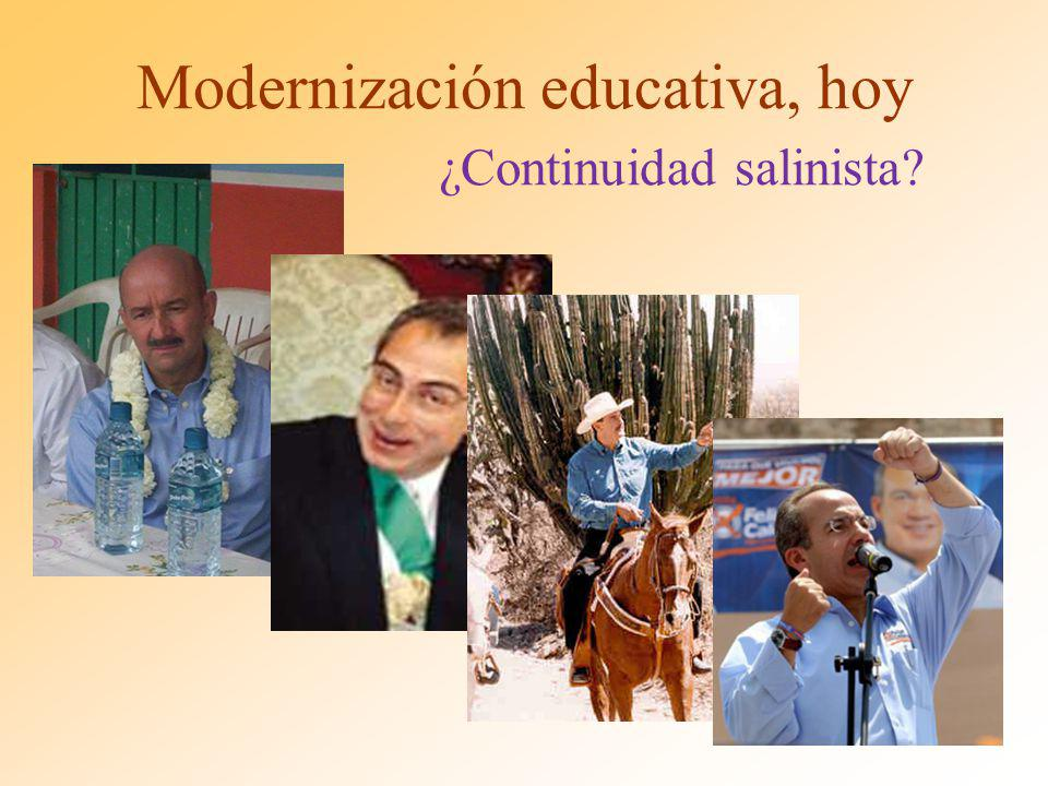 Modernización educativa, hoy ¿Continuidad salinista