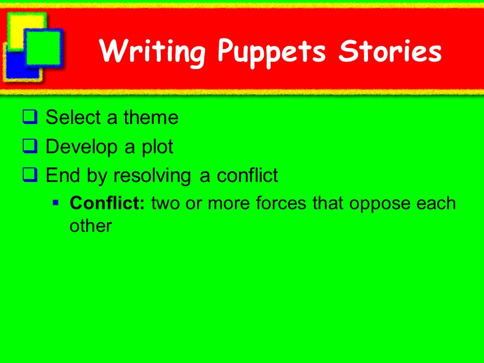 Writing Puppets Stories