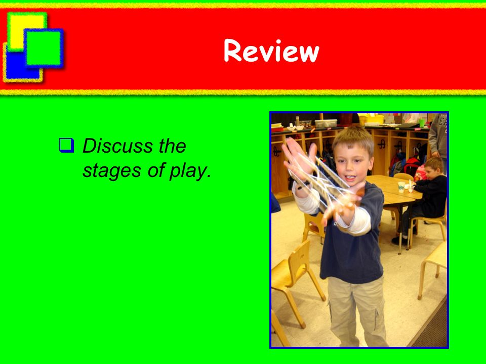 Review Discuss the stages of play.