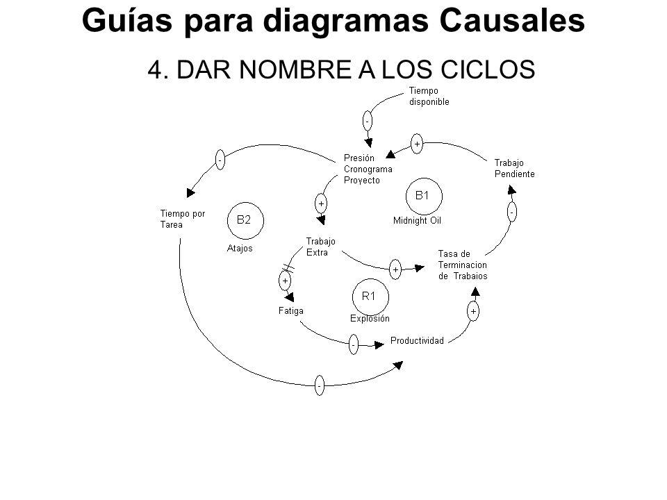 Guías para diagramas Causales