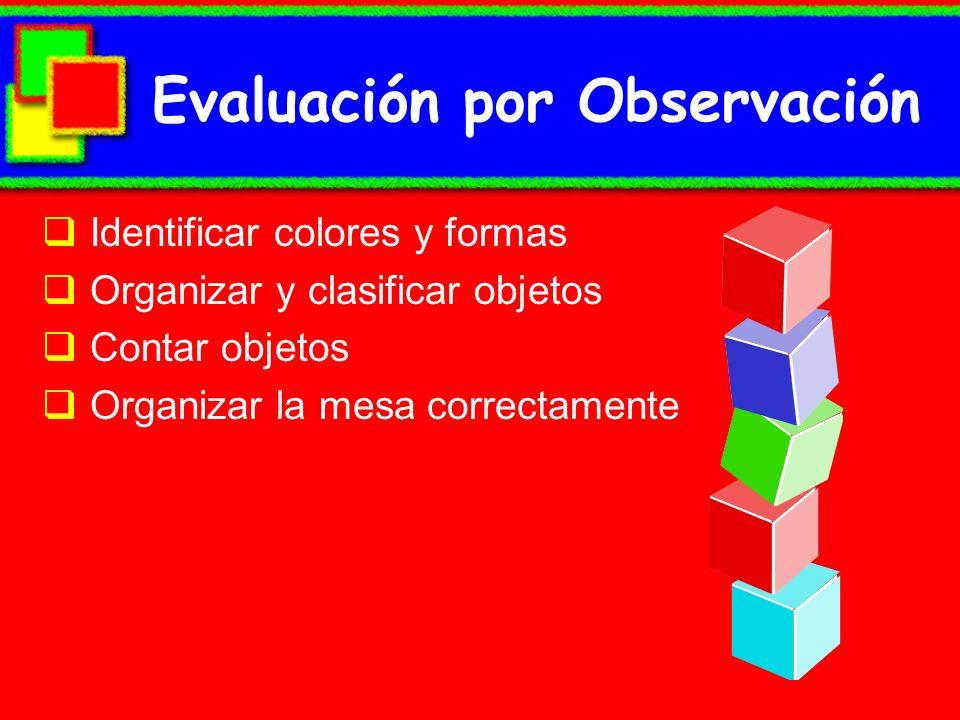 Evaluación por Observación