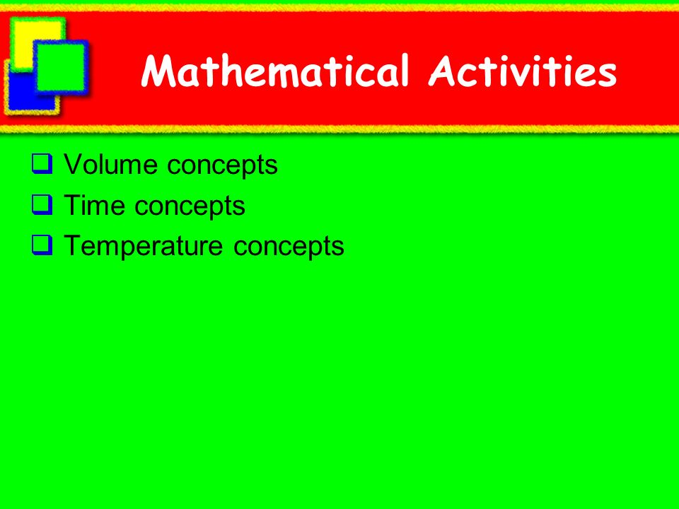 Mathematical Activities
