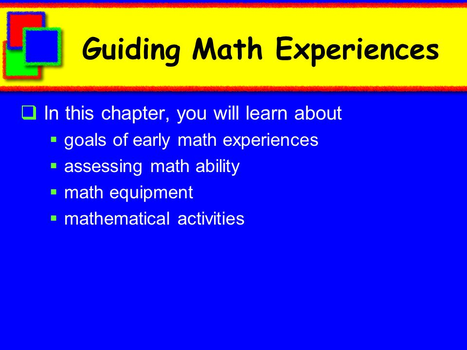 Guiding Math Experiences