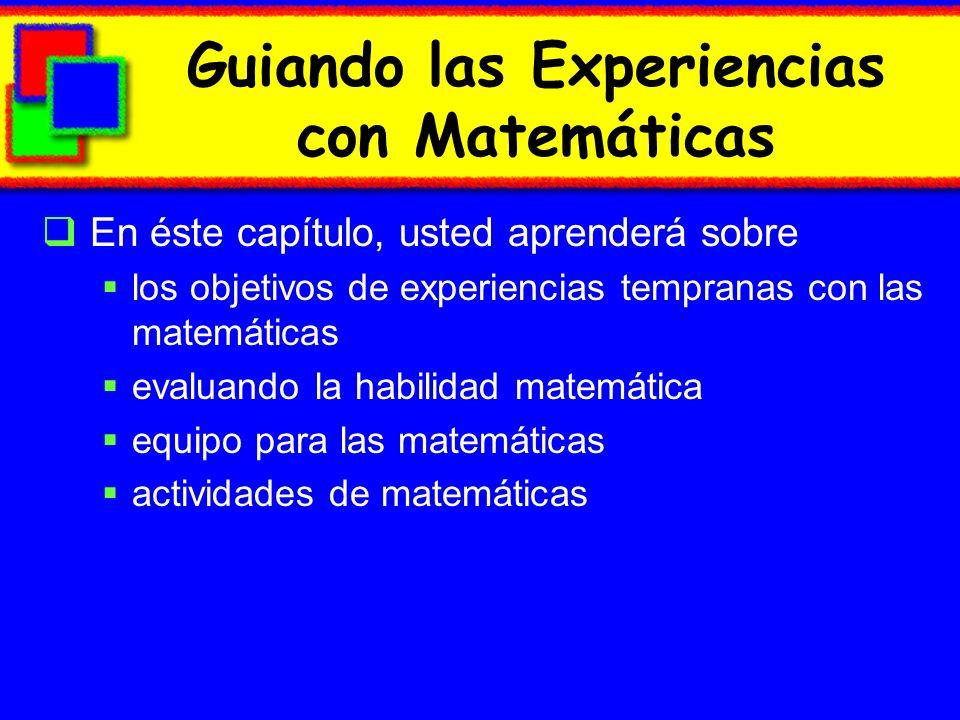 Guiando las Experiencias con Matemáticas