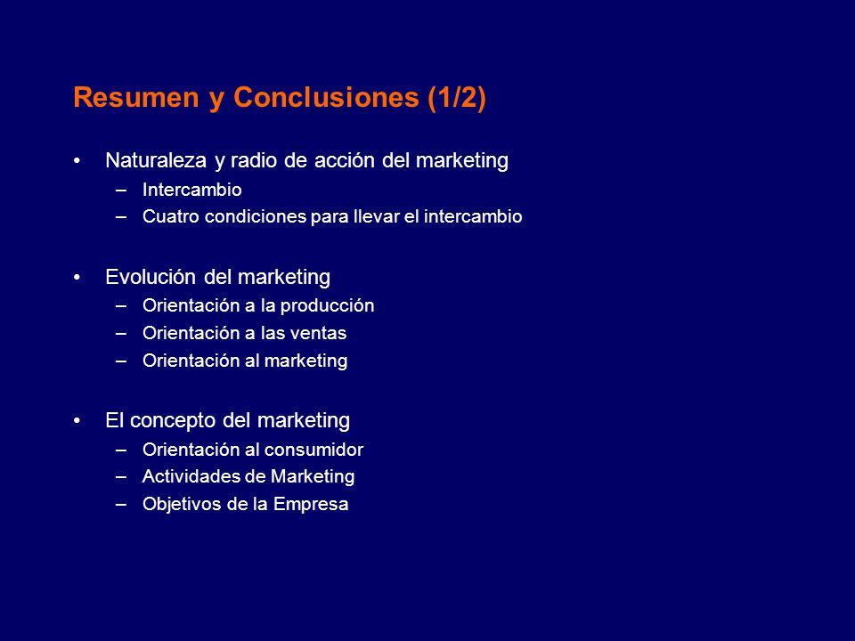 Resumen y Conclusiones (1/2)