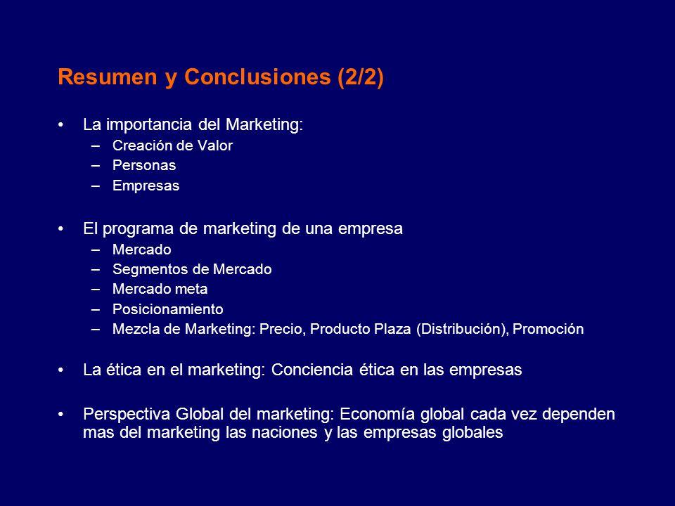 Resumen y Conclusiones (2/2)
