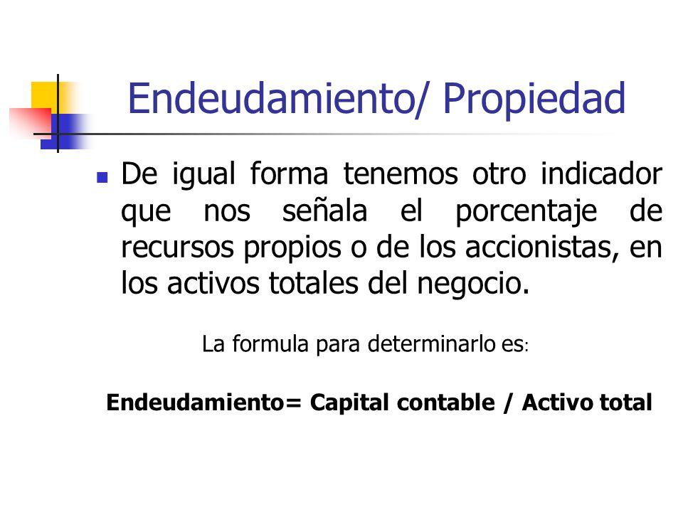 Endeudamiento/ Propiedad