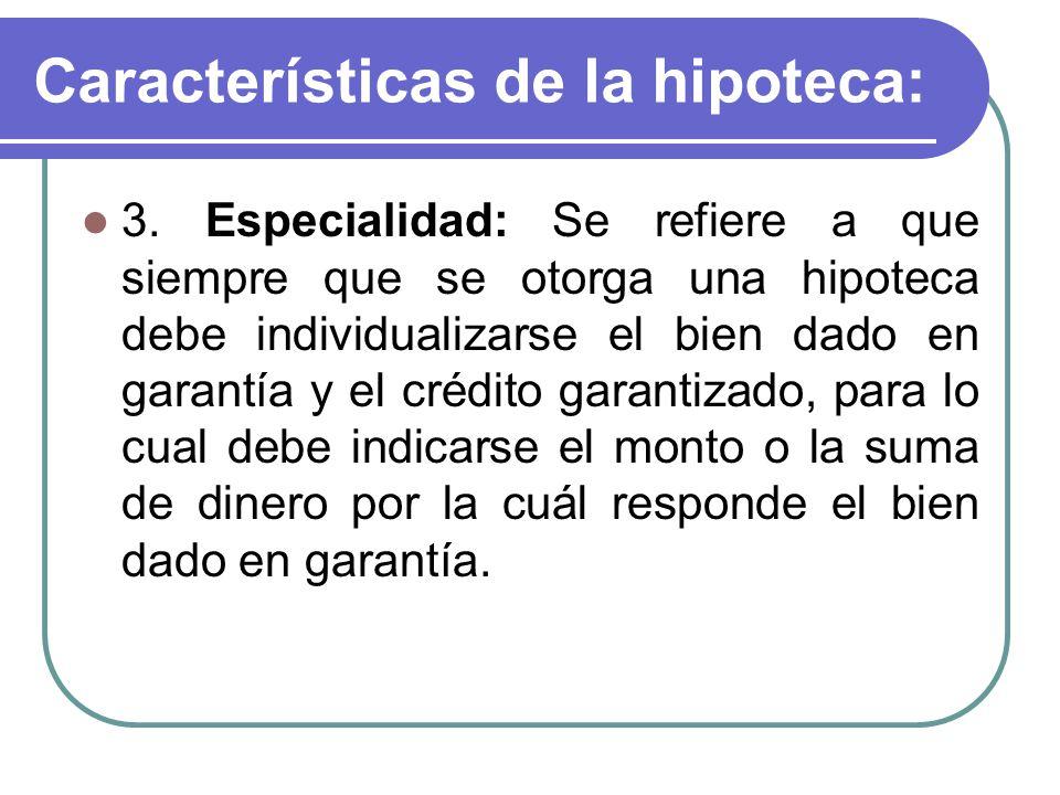 Características de la hipoteca: