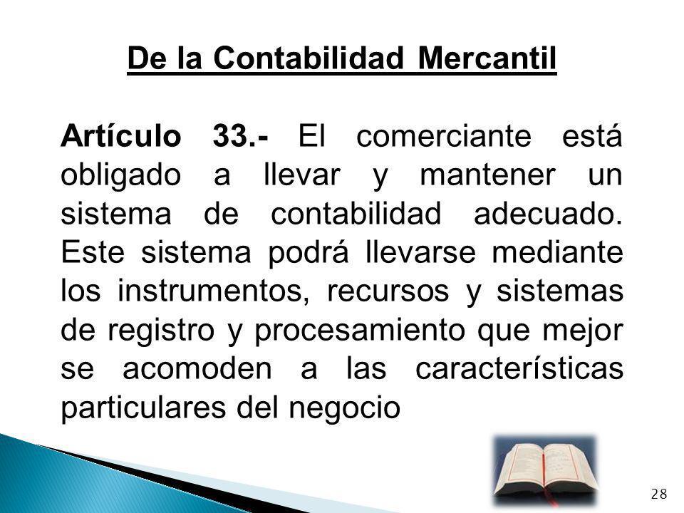De la Contabilidad Mercantil