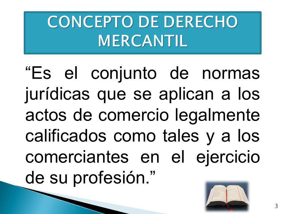 CONCEPTO DE DERECHO MERCANTIL