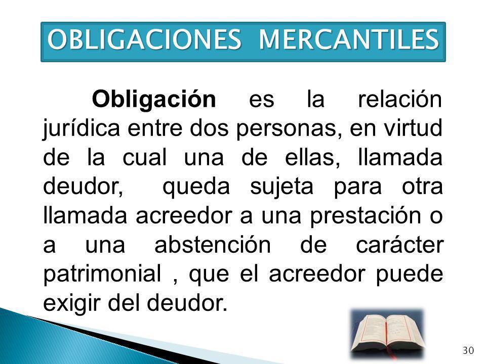 OBLIGACIONES MERCANTILES