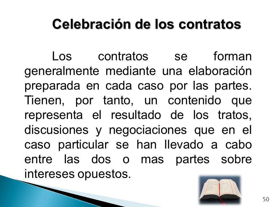 Celebración de los contratos