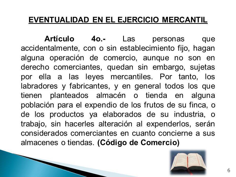 EVENTUALIDAD EN EL EJERCICIO MERCANTIL