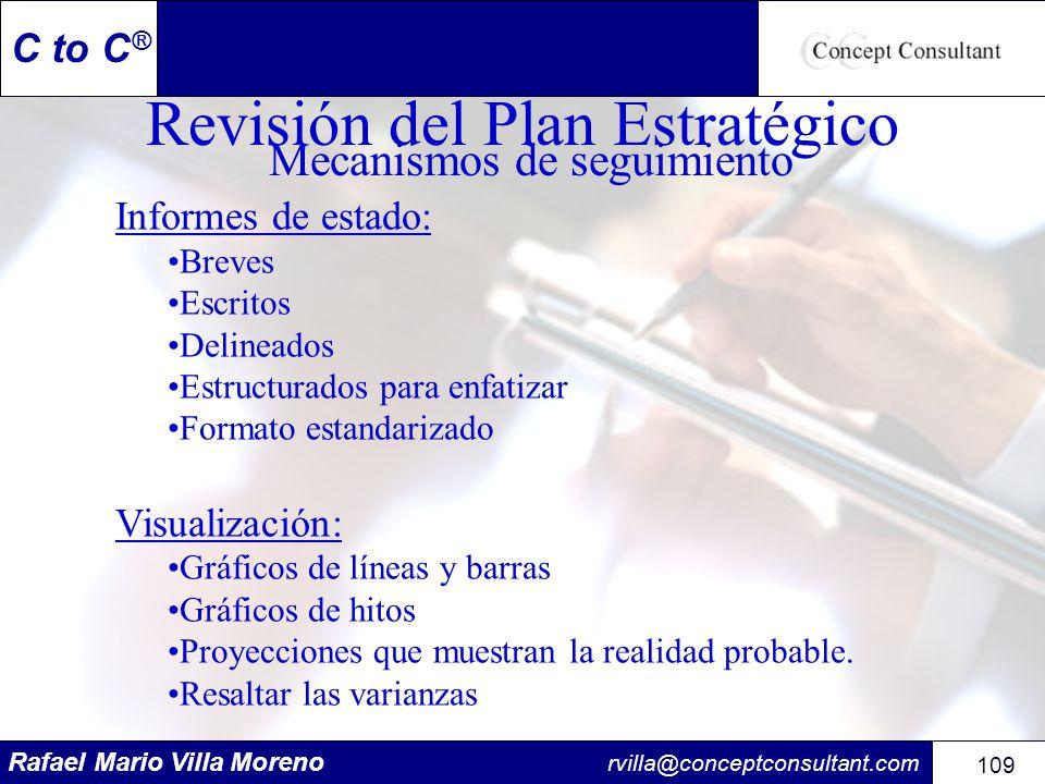 Revisión del Plan Estratégico Mecanismos de seguimiento