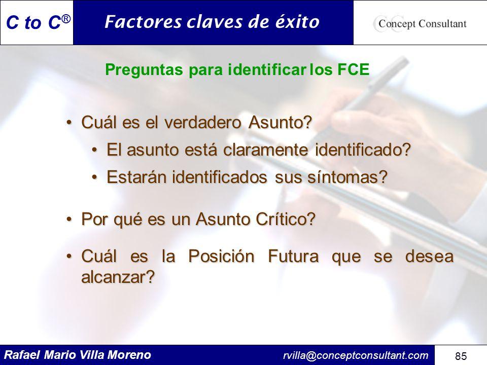 Preguntas para identificar los FCE