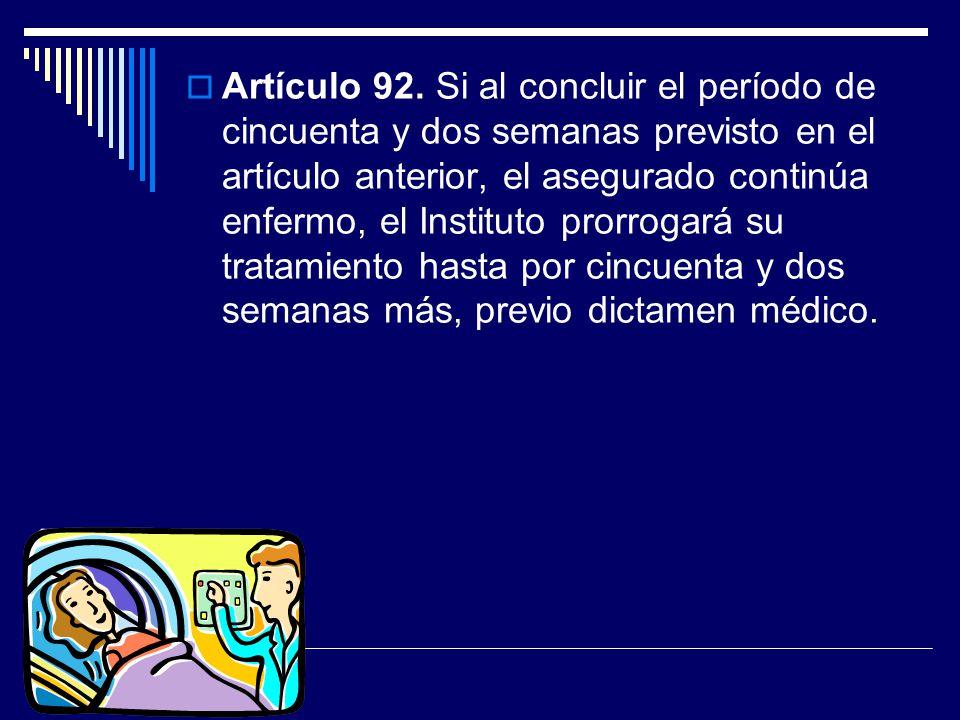 Artículo 92.