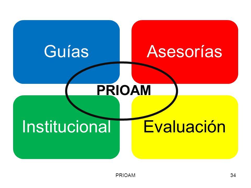 PRIOAM PRIOAM Resumiendo de forma gráfica: El PRIOAM: