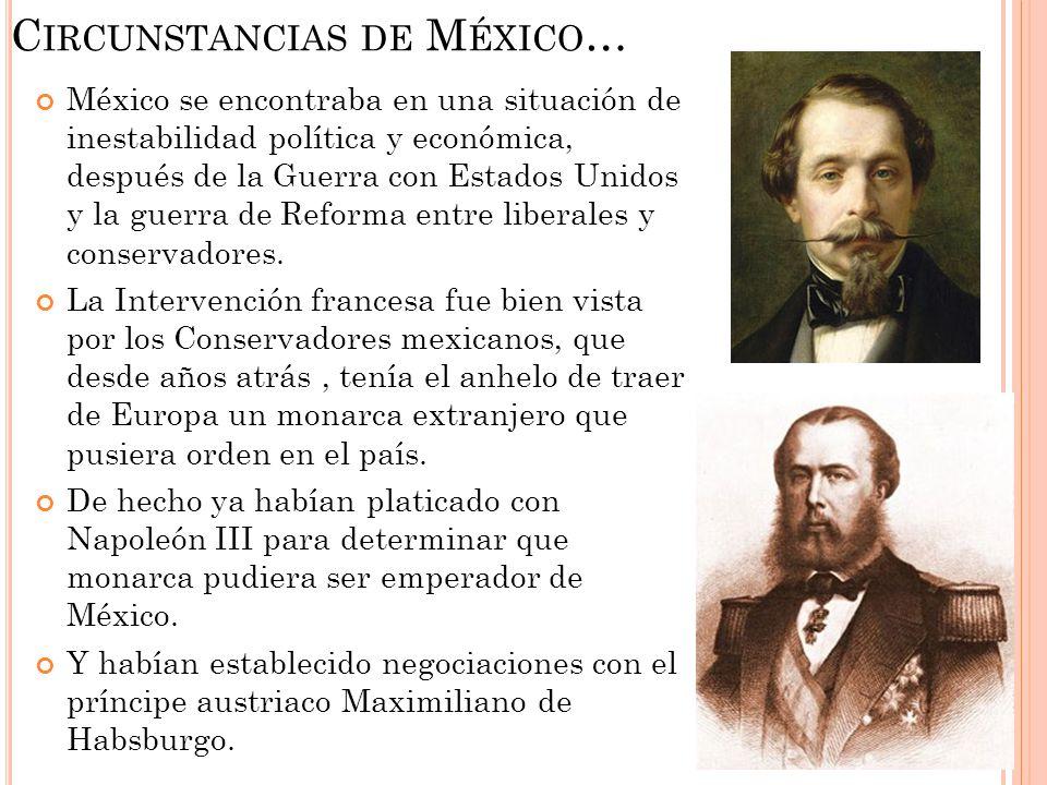 Circunstancias de México…