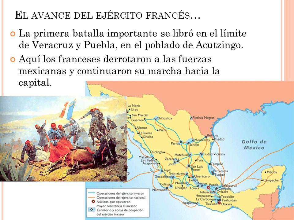 El avance del ejército francés…