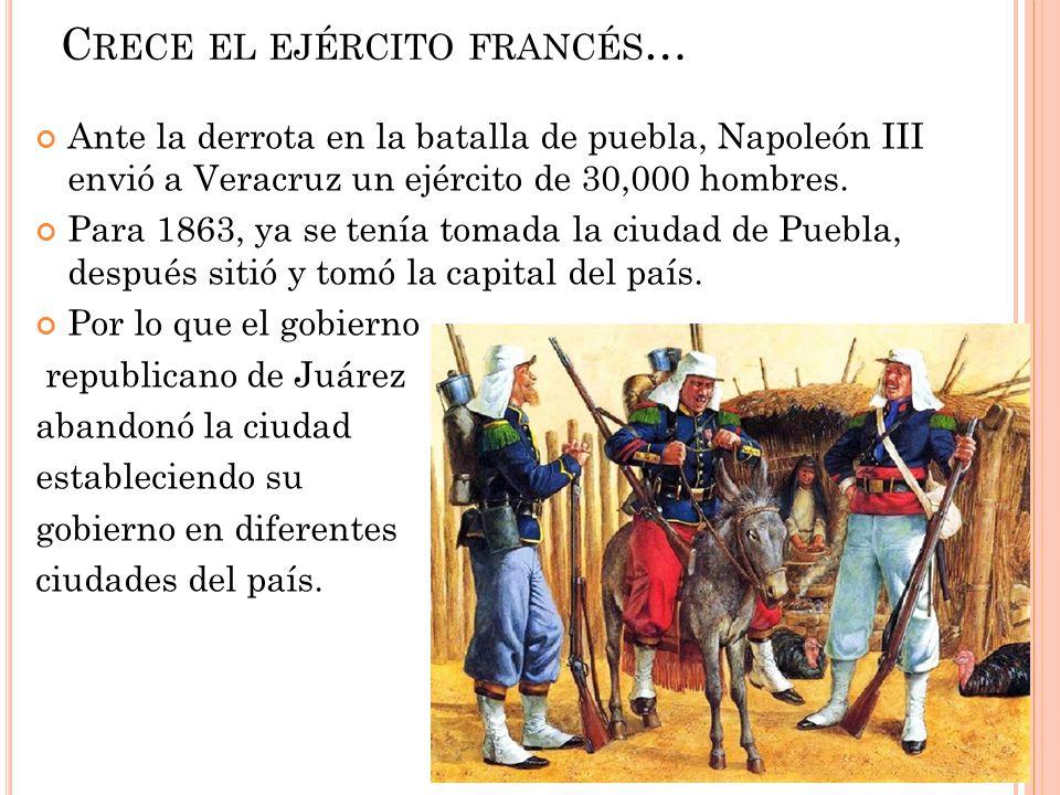 Crece el ejército francés…