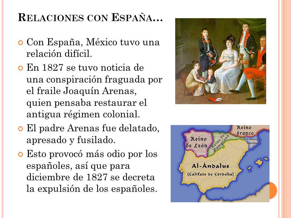 Relaciones con España…