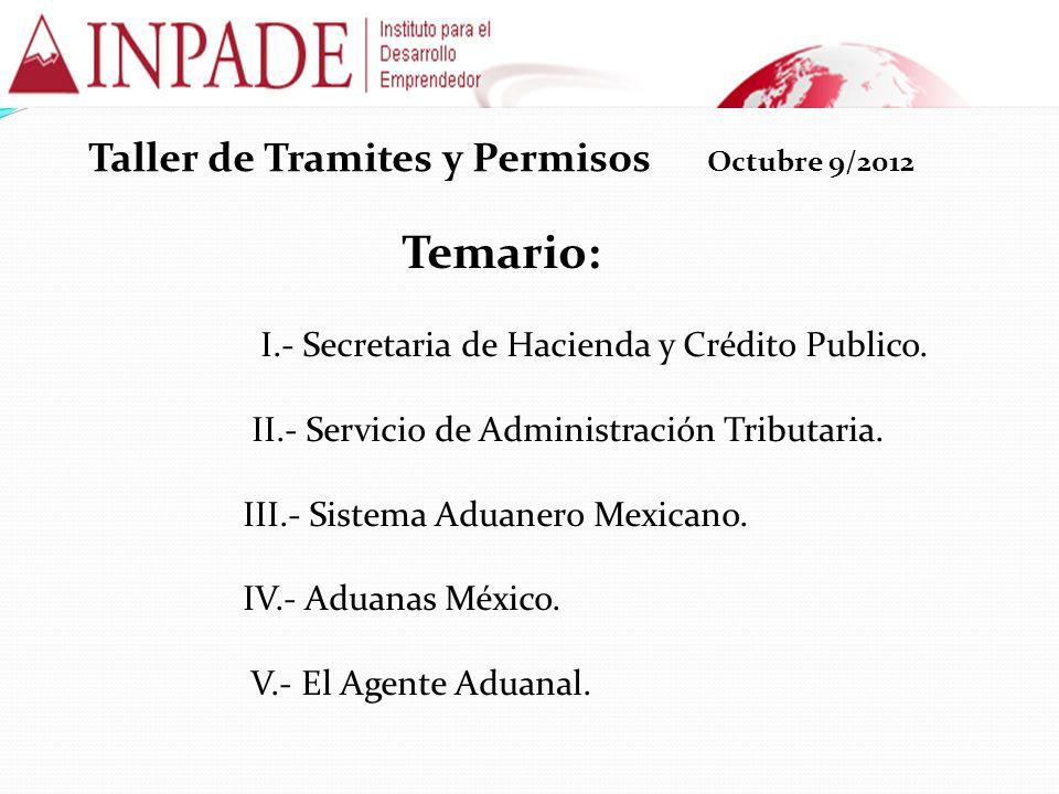 Taller de Tramites y Permisos Octubre 9/2012