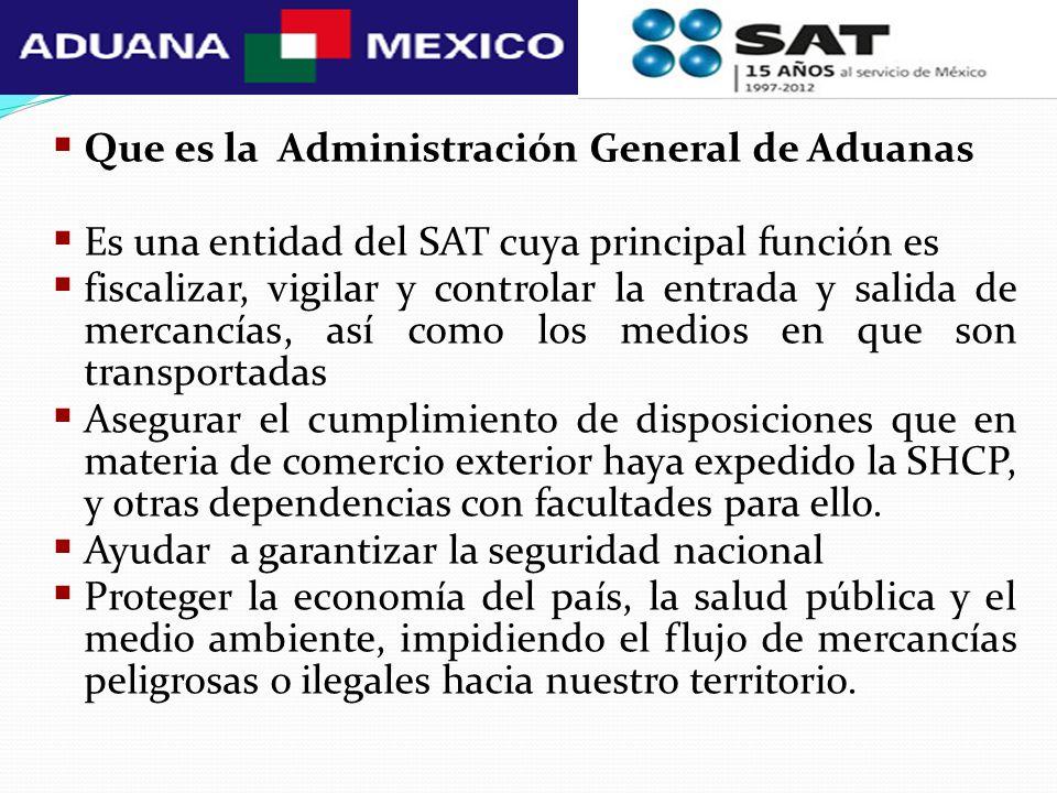 Que es la Administración General de Aduanas