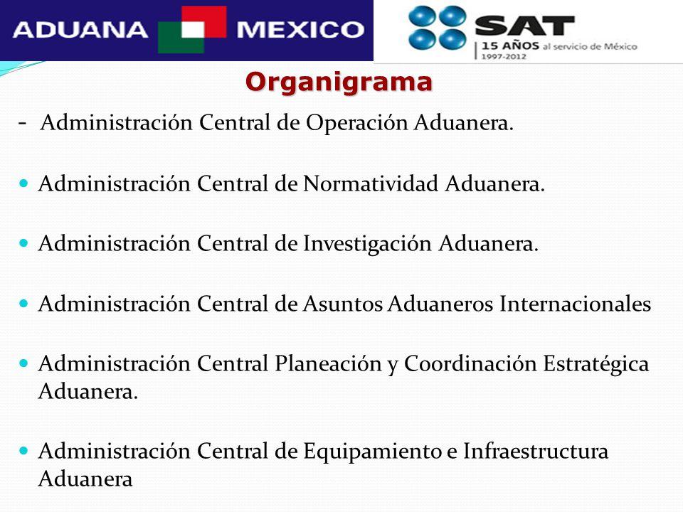- Administración Central de Operación Aduanera.