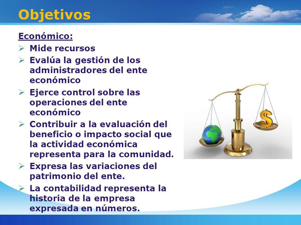 Objetivos Económico: Mide recursos