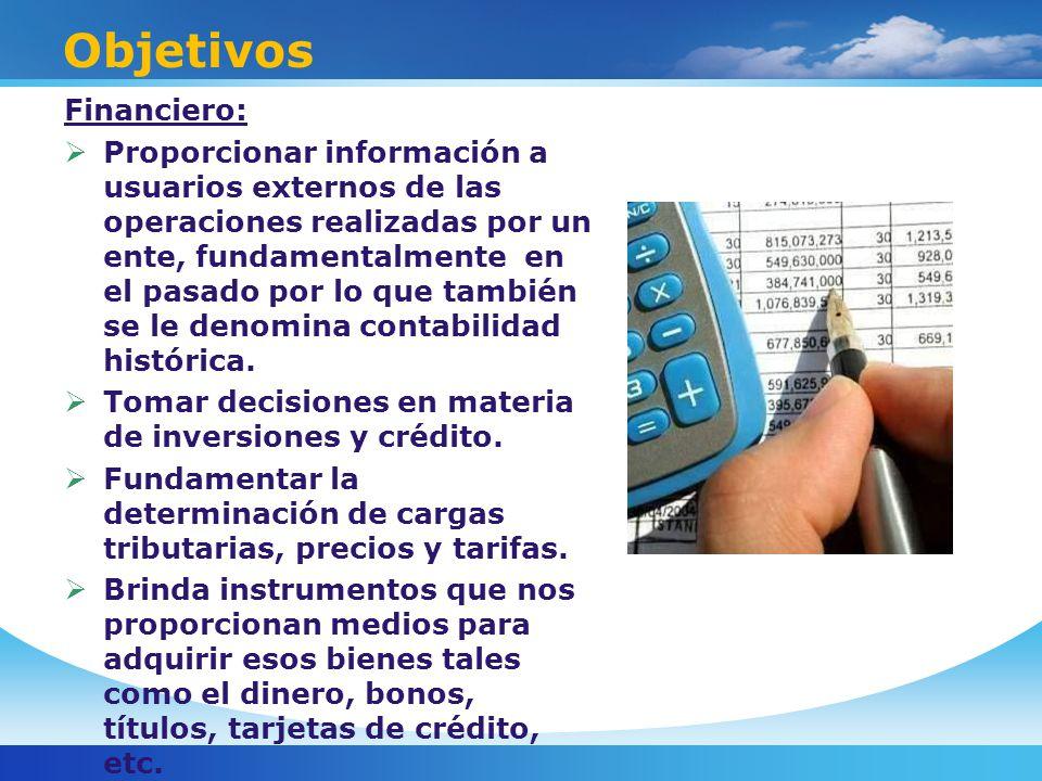 Objetivos Financiero: