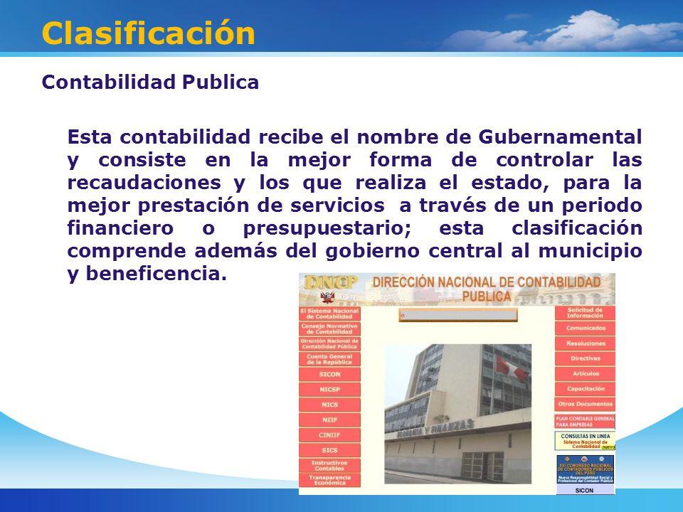 Clasificación Contabilidad Publica