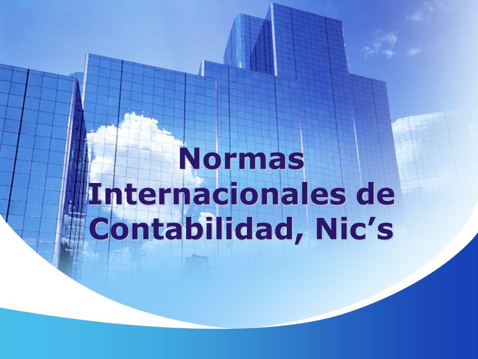 Normas Internacionales de Contabilidad, Nic's