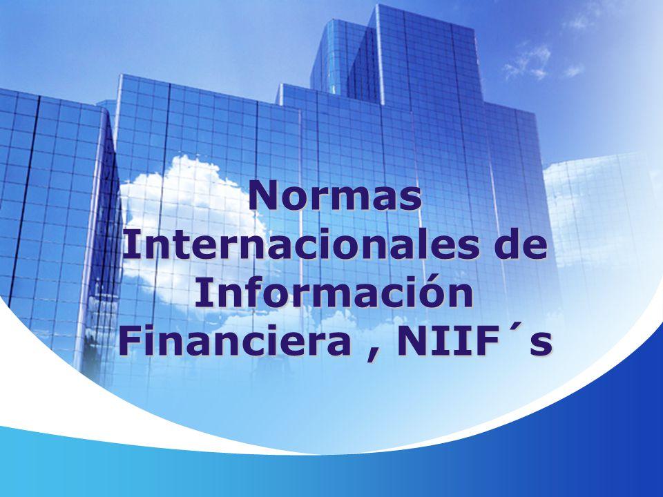 Normas Internacionales de Información Financiera , NIIF´s
