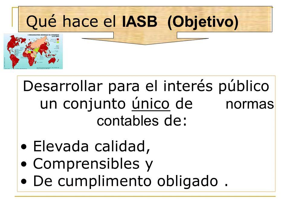 Qué hace el IASB (Objetivo)