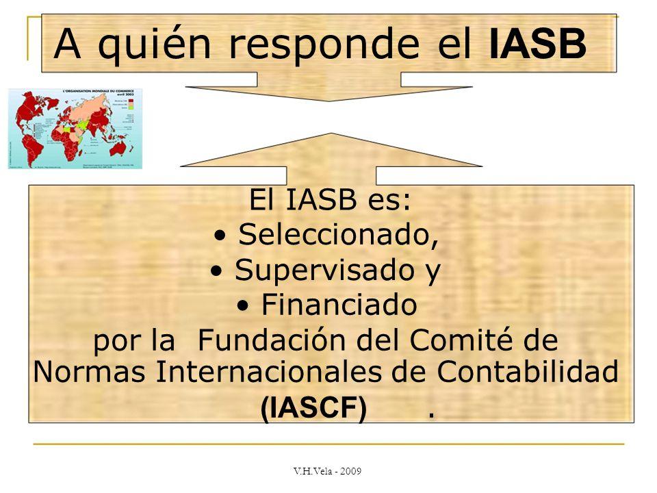 A quién responde el IASB