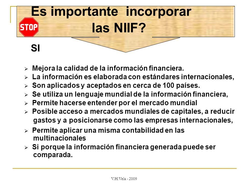 Es importante incorporar las NIIF