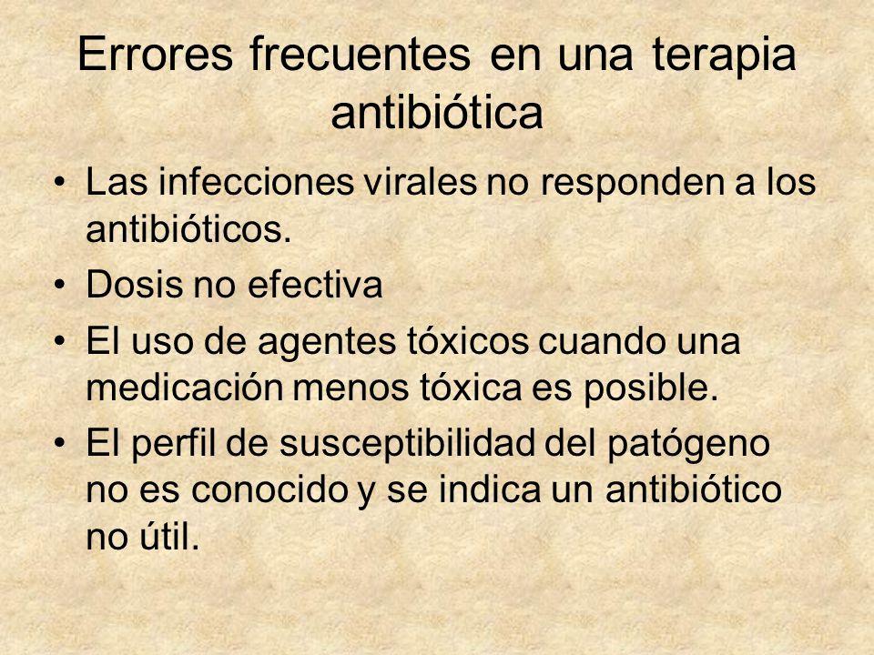 Errores frecuentes en una terapia antibiótica