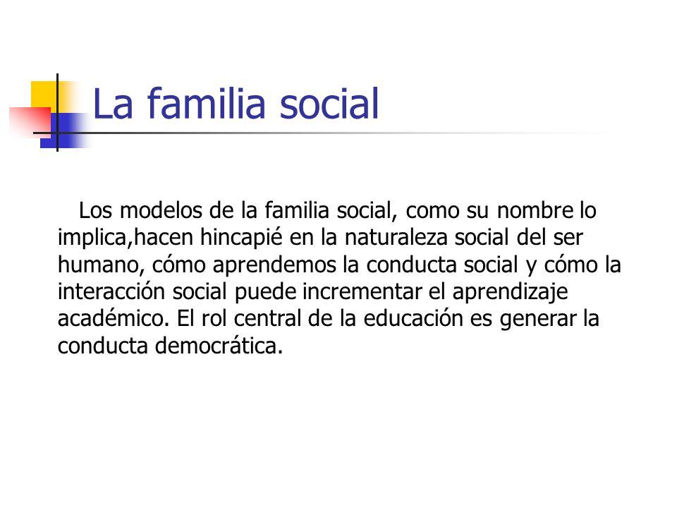 La familia social