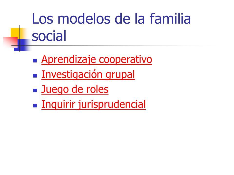 Los modelos de la familia social