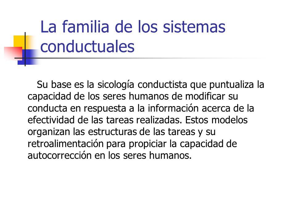 La familia de los sistemas conductuales