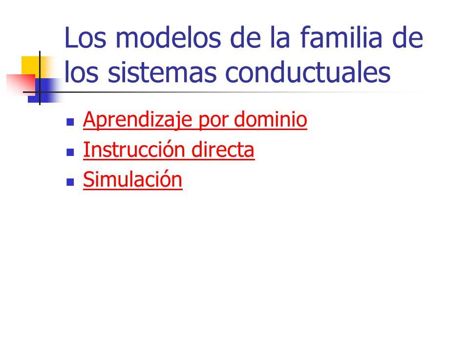 Los modelos de la familia de los sistemas conductuales