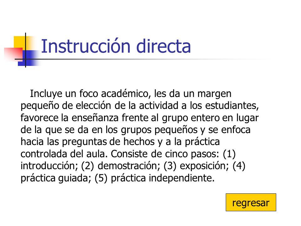 Instrucción directa