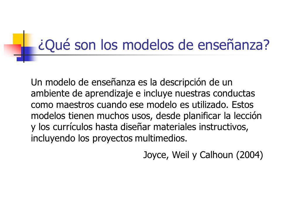 ¿Qué son los modelos de enseñanza