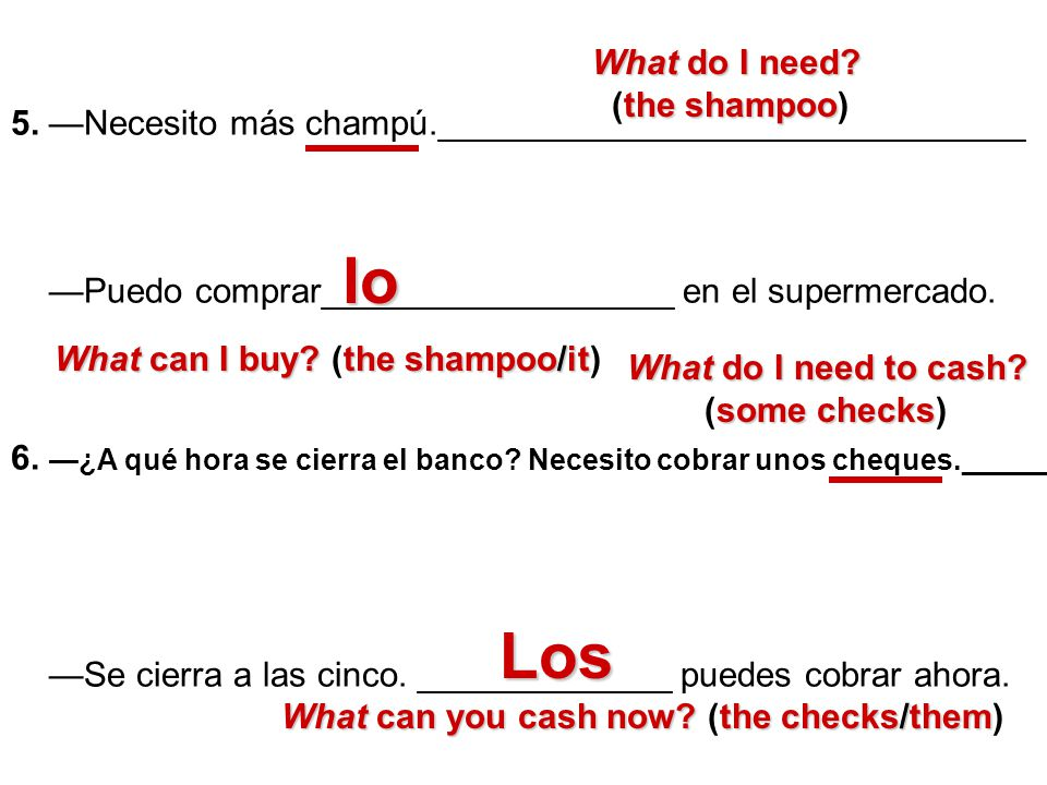 lo Los What do I need (the shampoo)